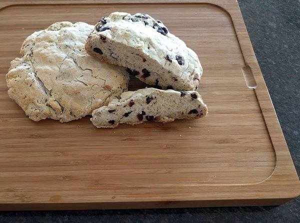 Gluten-Free Irish Soda Bread. Look at this beautiful texture, almost like a soft biscotti. Plus three other variations of this recipe. [featured on GlutenFreeEasily.com] (photo)