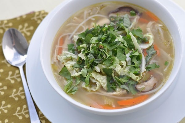 Gluten-Free Chicken Noodle Soup Recipes. Shown is Nourishing Meals' Healing Chicken Ginger Soup recipe. [featured on GlutenFreeEasily.com]
