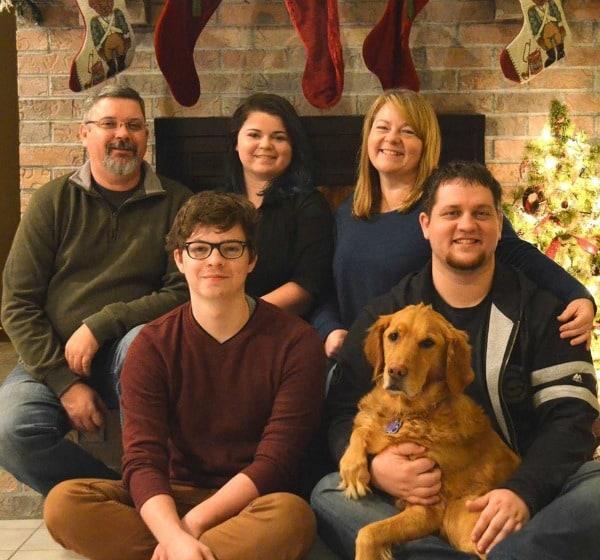 Gluten-Free Irish Soda Bread from Susan Cross Johnson. Photo shows Susan and her family. [featured on GlutenFreeEasily.com]
