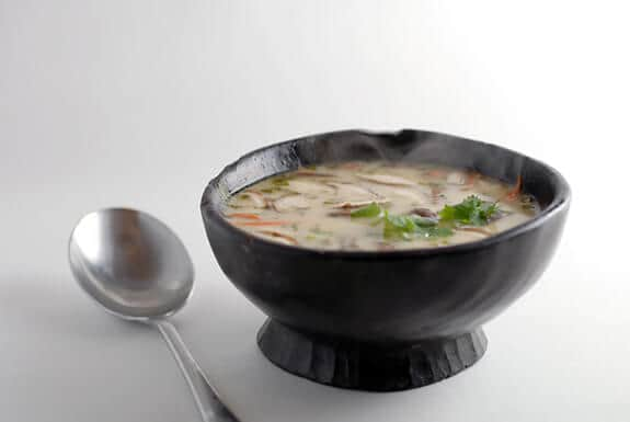 Gluten-Free Chicken Noodle Soup Recipes. Shown is Elana's Coconut Chicken Soup recipe. [featured on GlutenFreeEasily.com]