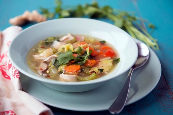 Gluten-Free Chicken Noodle Soup Recipes. Recipe shown is Super Immune Boosting Chicken Soup from Nourishing Meals. [featured on GlutenFreeEasily.com]