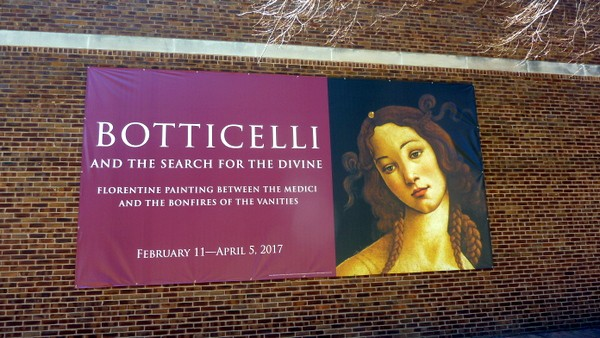 Botticelli Exhibit Banner Muscarelle Museum [from GlutenFreeEasily.com]