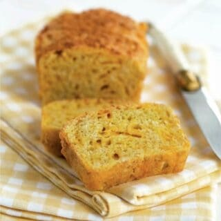 This gluten-free Cheddar Cheese Quick Bread complements any meal, especially soup or salad. Sized for two, this quick bread can be baked in a toaster oven. From Gluten-Free Cooking for Two. [featured on GlutenFreeEasily.com]