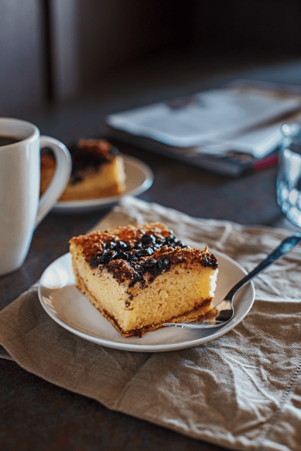 Blueberry Coffee Cake In A Mug
