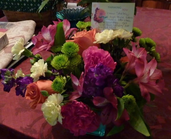 Flowers from Bo and Justine. They definitely brightened my days!