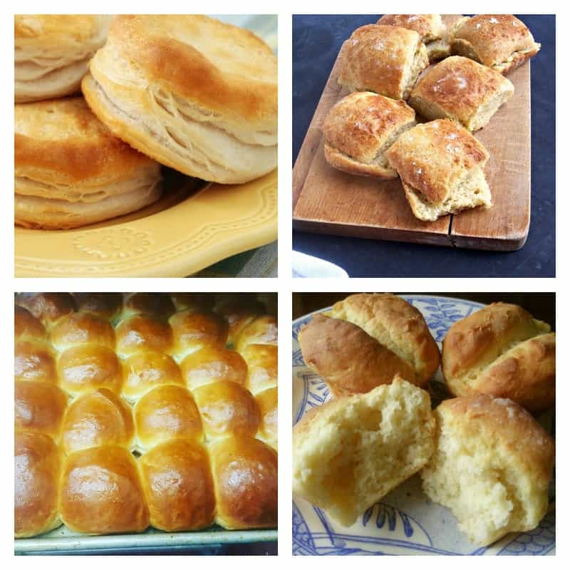 Gluten-Free Roll Recipes and Gluten-Free Biscuit Recipes Collage. [from GlutenFreeEasily.com]