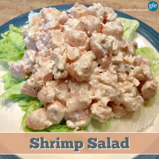 Gluten-Free Shrimp Salad. Sunset Shrimp Salad for win. [from GlutenFreeEasily.com]