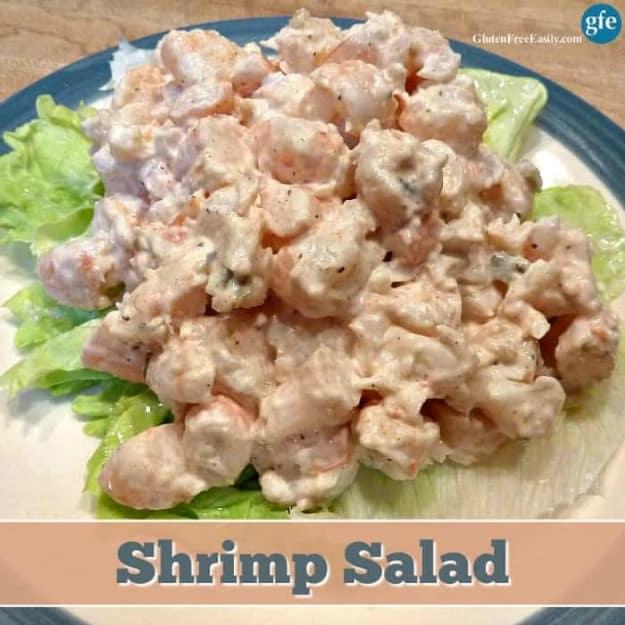 Gluten-Free Shrimp Salad. Sunset Shrimp Salad for win. [from GlutenFreeEasily.com]