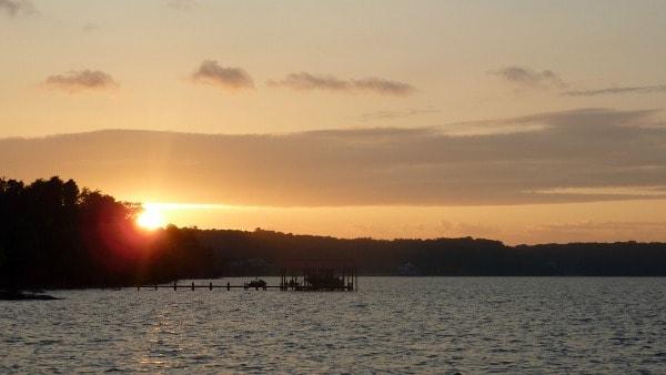 Sunset Fairview Beach Tims Fireball Sun [on GlutenFreeEasily.com]