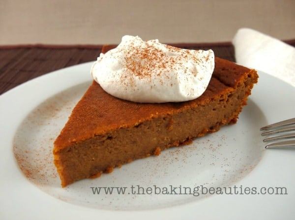 Crustless Pumpkin Pie from Faithfully Gluten Free. One of 50 gluten-free pumpkin pie recipes. [featured on GlutenFreeEasily.com]