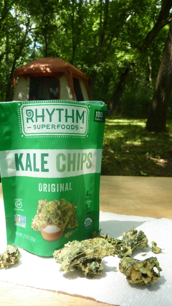 GFE recommends naturally gluten-free Rhythm Kale Chips. Great for camping trips, road trips, lunches, and more. [featured on GlutenFreeEasily.com]