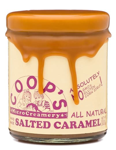Coop's Microcreamery Salted Caramel Sauce with Drippy Lid