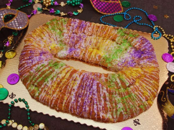 Gluten-Free King Cake made using Pamela's Bread Mix.