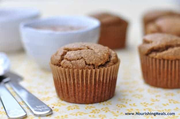 Gluten-Free Banana Almond Butter Muffins. These muffins are also dairy free, grain free, and refined sugar free but don't put a label on them unless you have to. They're just plain good! One of 20 gluten-free muffin recipes on gfe for March Muffin Madness.
