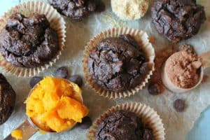 Gluten-Free Chocolate Butternut Muffins. How amazing do these gluten-free muffins from Tessa the Domestic Diva look? One of 20 fabulous recipes featured on gfe during March Muffin Madness.