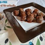 Gluten-Free Spiced Meatballs. These flavorful meatballs served in a sweet and spicy sauce are always the hit of the party! [from GlutenFreeEasily.com]