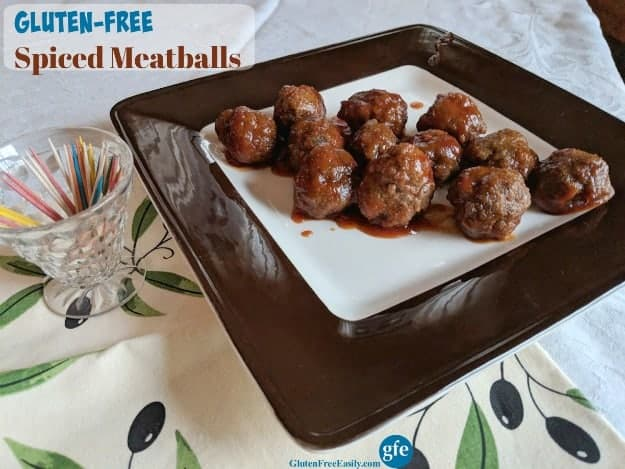 Gluten-Free Spiced Meatballs. These flavorful meatballs served in a sweet and spicy sauce are always the hit of the party!