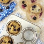 Paleo Shredded Coconut Blueberry Muffins