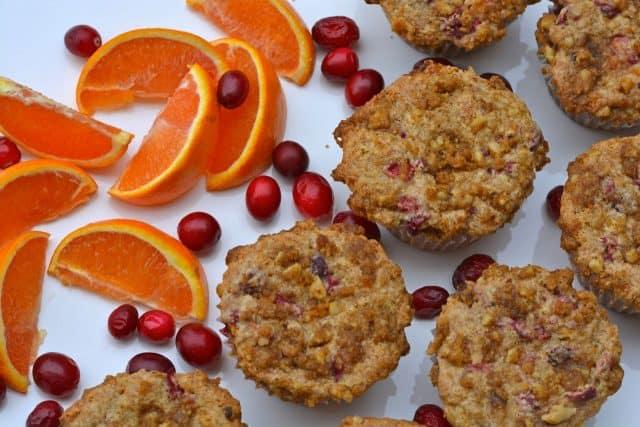 Gluten-Free Cranberry Orange Muffins.