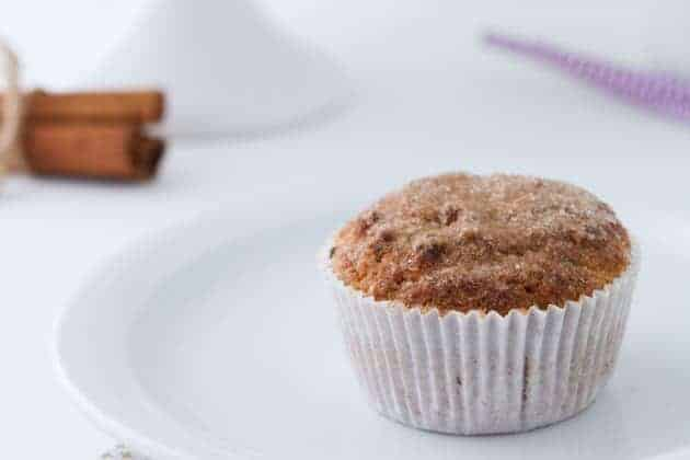 "Low-Carb Keto Snickerdoodle Muffins. ""The perfect keto treat! Low-carb ketogenic snickerdoodle muffins with crackled tops sprinkled with cinnamon ""sugar."" One of 20 gluten-free muffin recipes featured on gfe for March Muffin Madness."