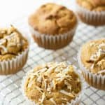 "Paleo Butternut Squash Muffins. ""These sweet Paleo Butternut Squash muffins make a deliciously nutritious breakfast or snack."" One of 20 gluten-free muffin recipes featured on gfe for March Muffin Madness."