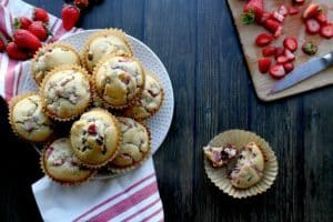 Paleo Strawberry Chocolate Chip Muffins. Perfect for those who are fans of the strawberry + chocolate combo, but if you'd rather skip the chocolate, these muffins will still be great. Other berries (or a mix of berries) can be subbed for the strawberries. One of 20 gluten-free muffin recipes featured on gfe for March Muffin Madness.