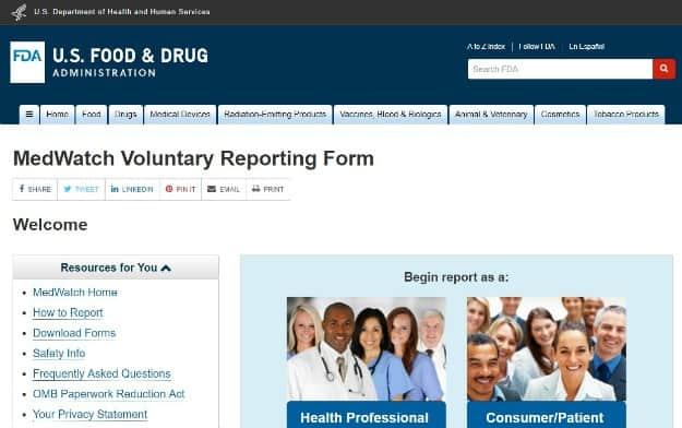 FDA Medwatch System Photo