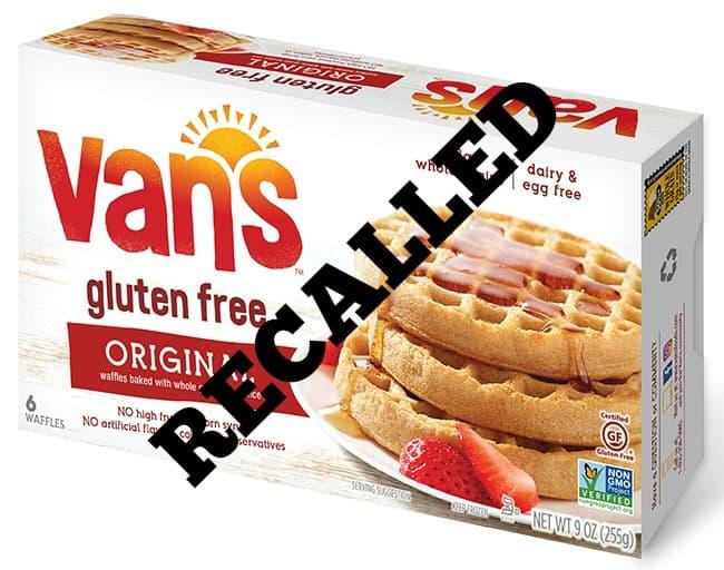 Recalled Van's Gluten-Free Waffles FDA Recall UCM606032