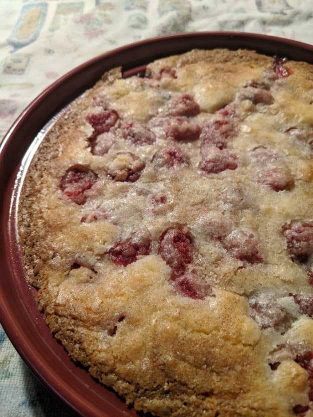 Easy Crustless Gluten-Free Raspberry Pie. You won't believe how easy this very delicious pie is! -from GlutenFreeEasily.com]