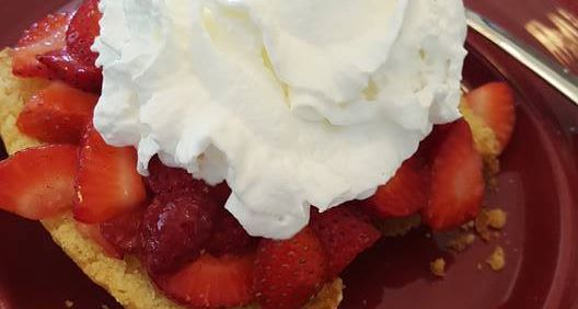Gluten-Free Strawberry Shortcake made using gfe Perfect Pound Cake. [from GlutenFreeEasily.com]