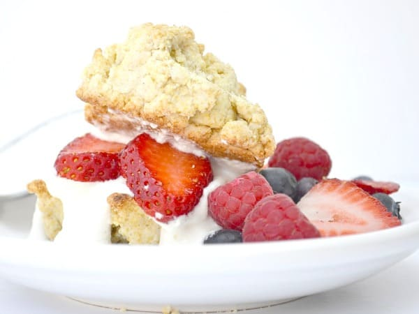 Gluten-Free and Vegan Strawberry Shortcake. One of 25 gluten-free strawberry shortcake recipes on gfe. [featured on GlutenFreeEasily.com]