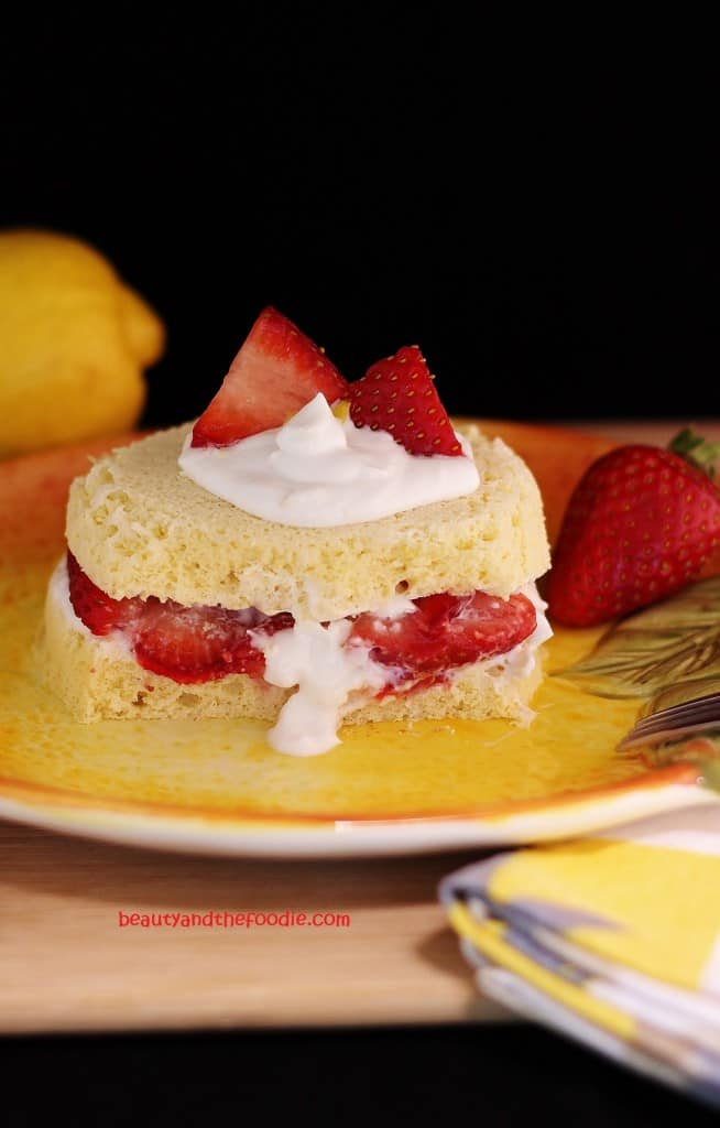 Paleo Strawberry Lemon Shortcake. One of 25 gluten-free strawberry shortcake recipes on gfe. [featured on GlutenFreeEasily.com]
