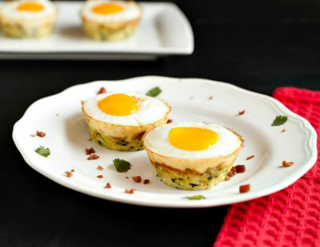 Egg Bacon Zucchini Nests. One of 50 gluten-free bacon recipes featured on gfe. [from GlutenFreeEasily.com]