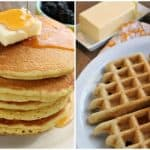 Absolutely delicious gluten-free keto pancakes or waffles. You choose. One of 30 fabulous recipes from Keto Breads cookbook by Cassidy Stauffer. [featured on GlutenFreeEasily.com]