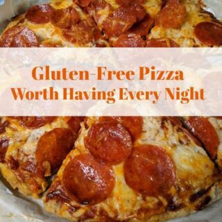 Holy Cow Pizza! Gluten-Free Pizza Worth Having Every Night. Learn the secret ingredient that makes this gluten-free pizza crust taste so much like that gluten-full pizza crust from back in the day. [from GlutenFreeEasily.com]