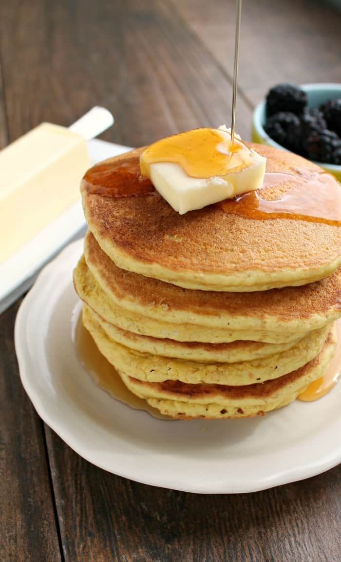 Gluten-Free Keto Pancakes. From Keto Breads Cookbook by Cassidy Stauffer. A variation of this recipe also makes waffles. [featured on GlutenFreeEasily.com]