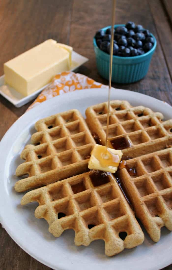 Keto Waffles. Gluten free, paleo, diner-style waffles. From the Keto Breads cookbook. [featured on GlutenFreeEasily.com]