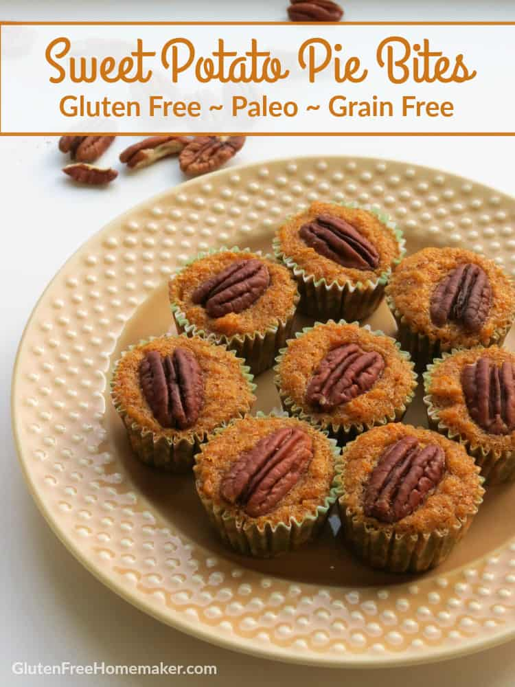Gluten-Free Sweet Potato Pecan Bites. Paleo, too.