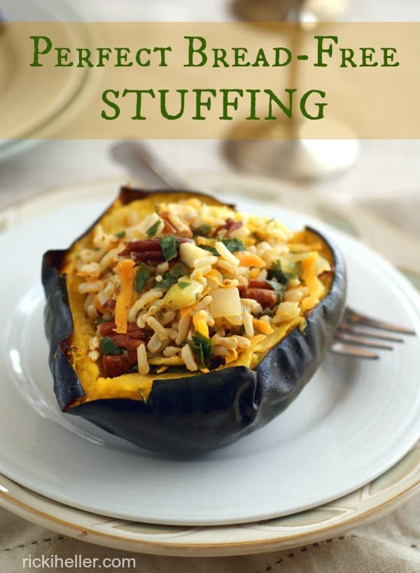 Perfect Gluten-Free Bread-Free Stuffing. One of 35 holiday-worthy, gluten-free stuffing recipes featured on gfe. [from GlutenFreeEasily.com]