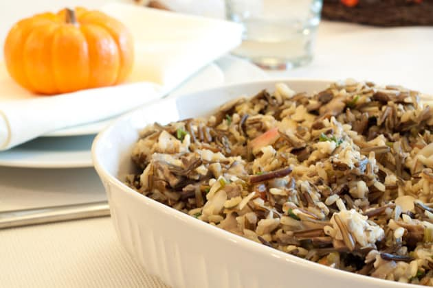 Gluten-Free Wild Rice and Mushroom Stuffing. One of 35 holiday-worthy, gluten-free stuffing recipes featured on gfe. [from GlutenFreeEasily.com]