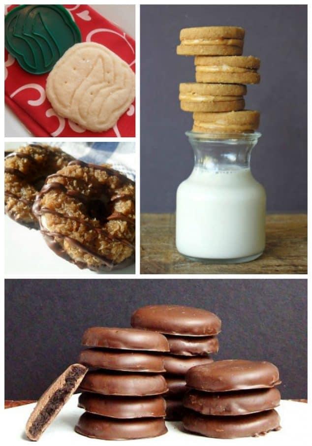 Best Gluten-Free Homemade Girl Scout Cookie Recipes. Featured on gfe. [GlutenFreeEasily.com]