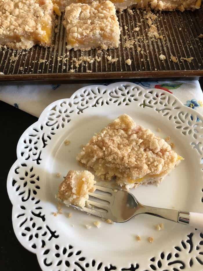 Gluten-Free Peach Pie Bars Photo
