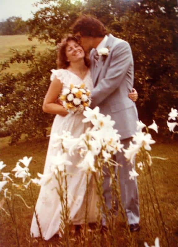 Smokey and Shirley Braden Wedding Kiss