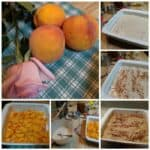 Gluten-Free Peach Cobbler. Step by step.