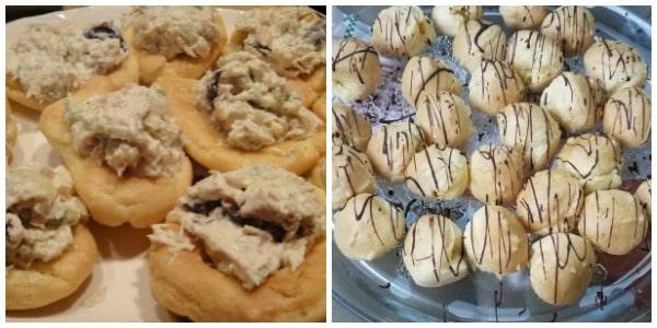 Gluten-Free Party Puffs Collage