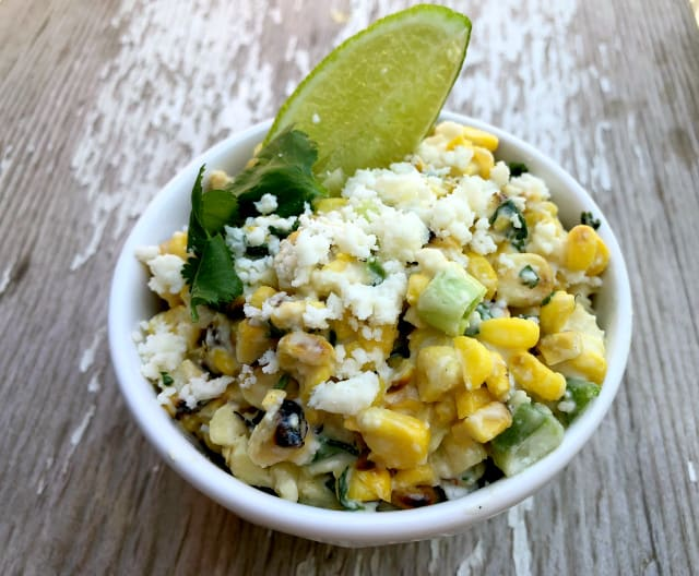 Mexican Street Corn Salad. Esquites, Elotes.