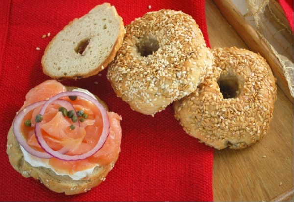 Gluten-Free Bagels Made from Pamela's Bread Mix