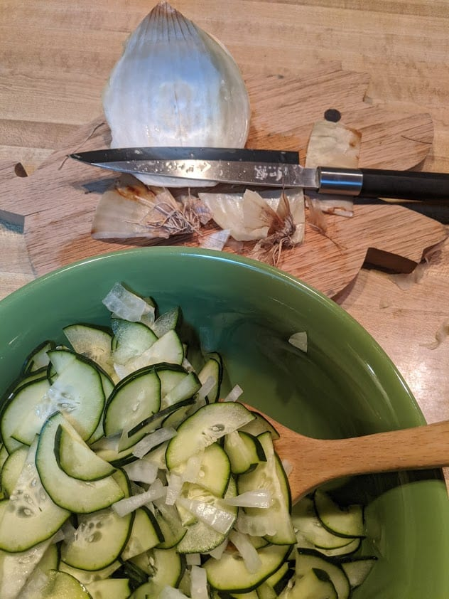 Classic Cucumber Salad. Perfect during the summer but you'll want to eat it all year long!