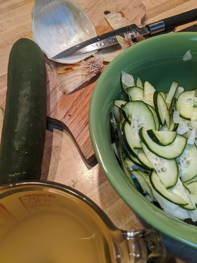 Classic Cucumber Salad. A summer recipe that you'll want to eat it all year long!