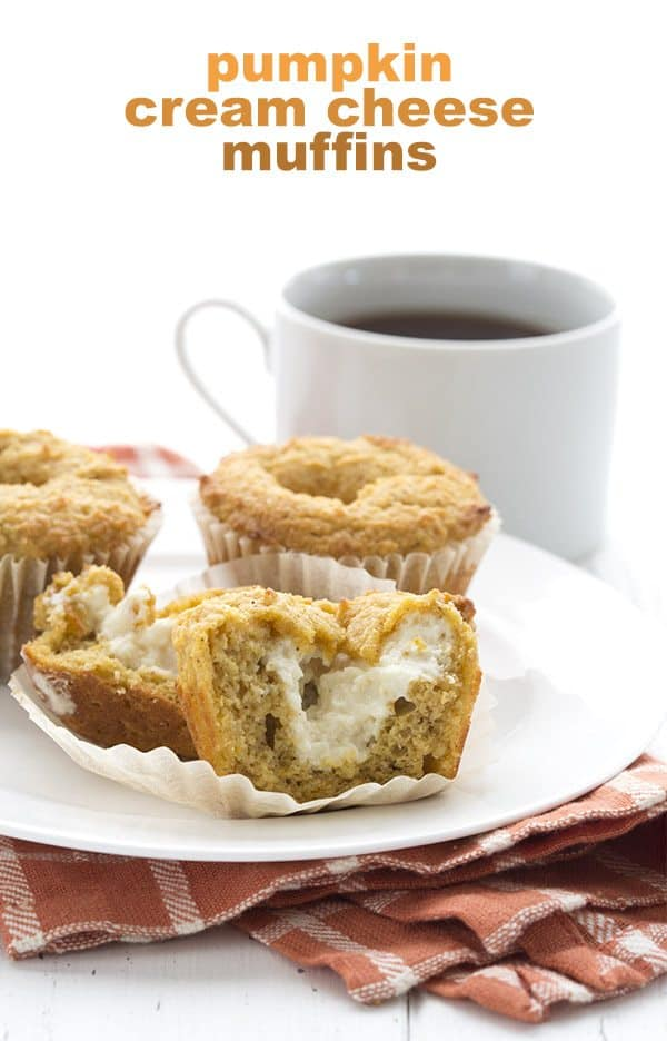 Gluten-Free Pumpkin Cream Cheese Muffins from All Day I Dream About Food